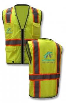 Custom Safety Vest With IPad/Tablet Pocket