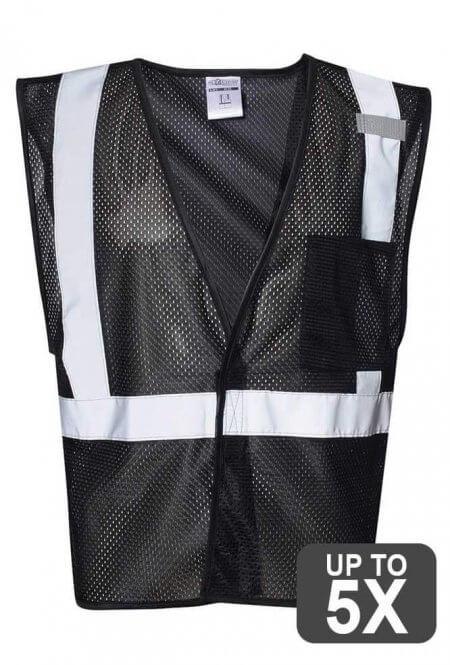 Kishigo Black Safety Vests