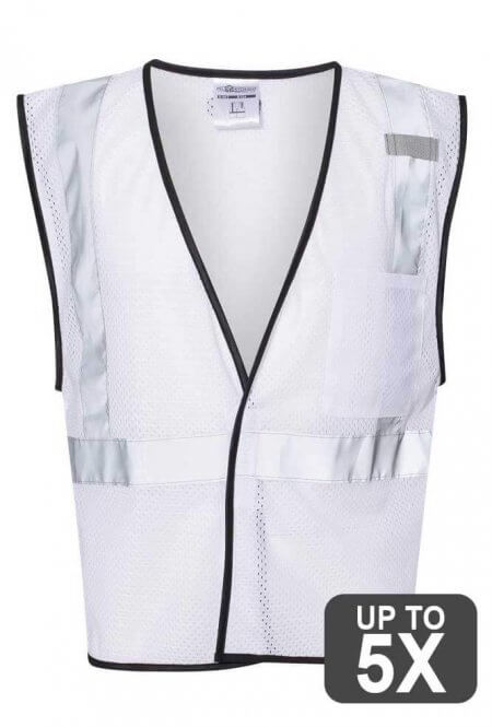 Kishigo White Safety Vests