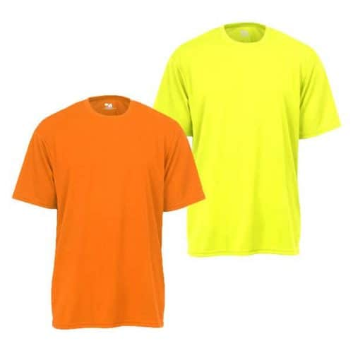 Badger Short Sleeve Dry Fit moisture wicking safety shirts
