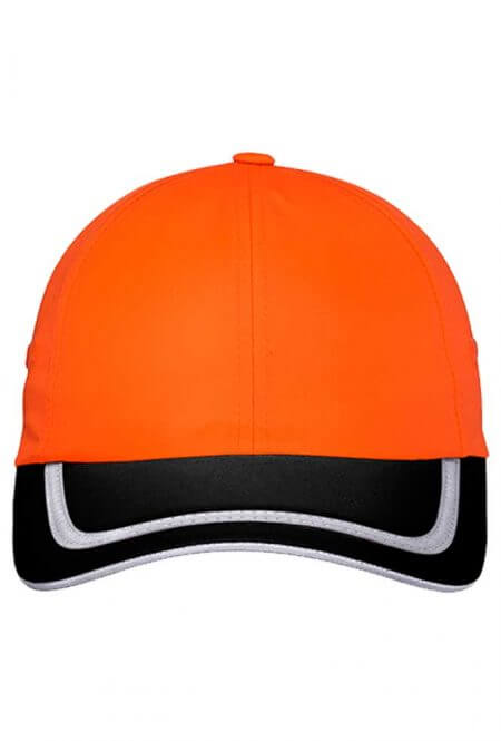 Enhanced Visibility Cap in Safety Orange/Black