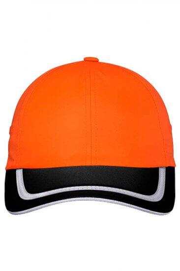 Enhanced Visibility Cap in Safety Orange/Black