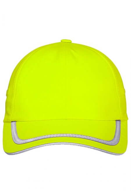 Enhanced Visibility Cap in Safety Green
