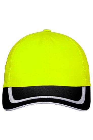Enhanced Visibility Cap in Safety Green/Black