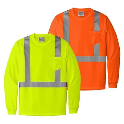 Cornerstone Class 2 Long Sleeve Reflective Shirt