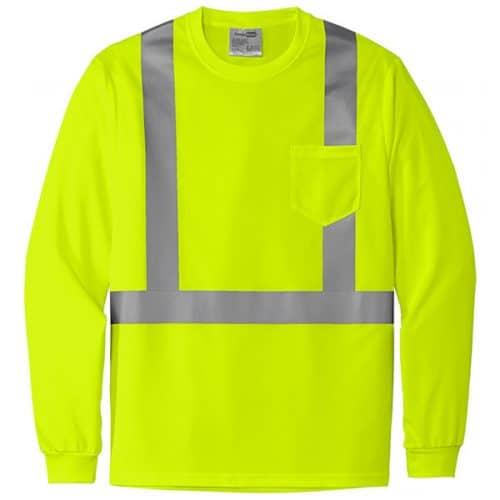 Long Sleeve Class 2 Safety Green Shirt