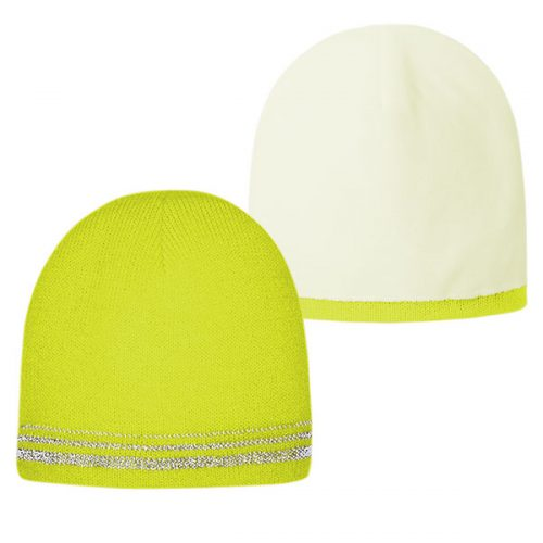 Lined Safety Green Stocking Cap