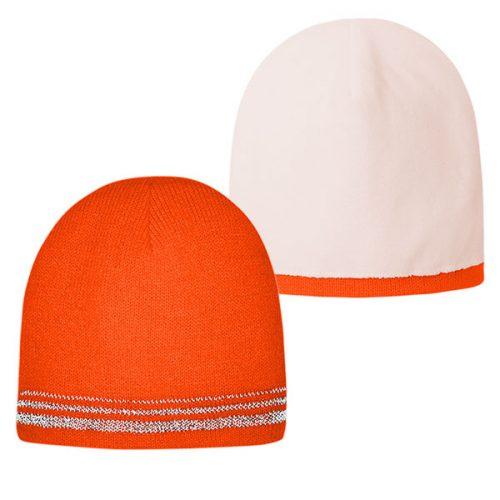Lined Safety Orange Stocking Cap