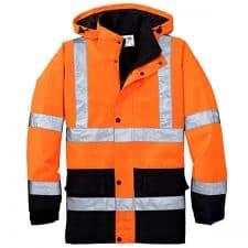 Safety Orange Waterproof Parka