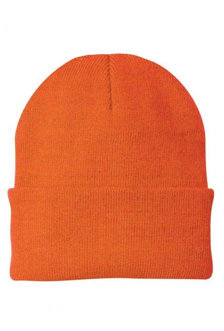 Safety Orange Knit Cap