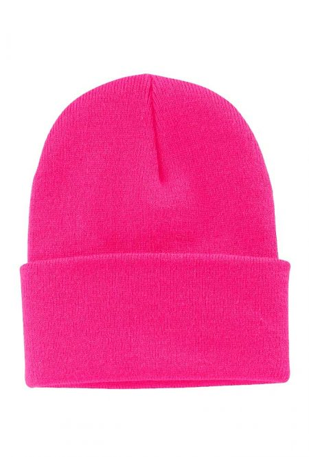 Safety Pink Knit Cap