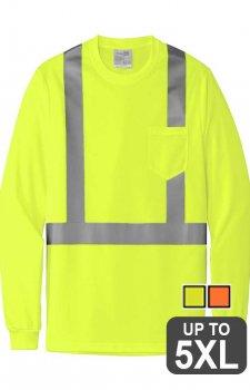 CornerStone ANSI 107 Class 2 Mesh Long Sleeve Safety Tee