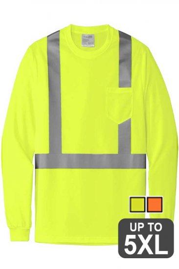 Hi Vis Long Sleeve Pocket Shirt