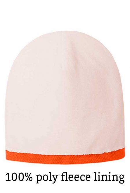 Safety orange stocking cap