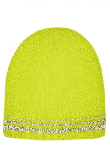 Lined Enhanced Visibility Safety Green Beanie