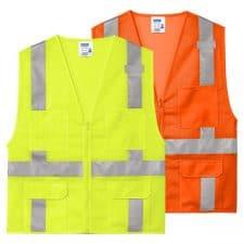 CornerStone Class 2 Mesh 6 Pocket Zippered Safety Vest