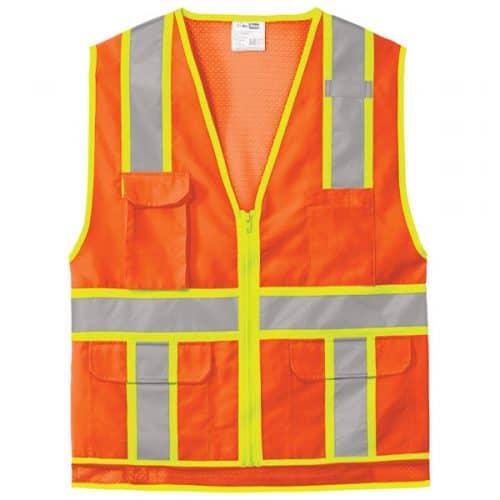 Surveyors Safety Vests in Safety Orange