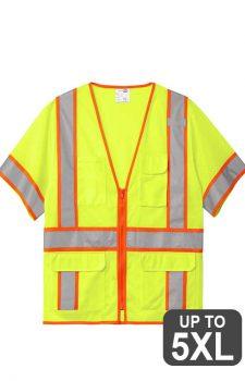 Cornerstone Class 3 Surveyor Mesh Short Sleeve Safety Vest