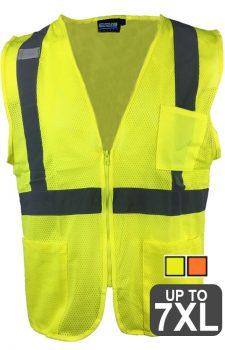 ERB 363P 3-Pocket Zipper Safety Vest