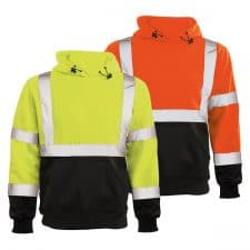 ERB Class 3 Hooded Safety Sweatshirt With Black Bottom