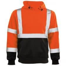 ERB Safety Orange Class 3 Hooded Sweatshirt
