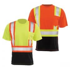 ERB Class 2 Safety T-Shirt With Black Bottom