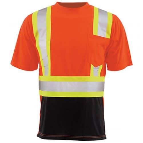 Class 2 Reflective Safety Orange Shirt