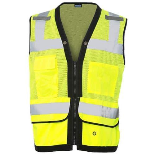 ERB Safety Green Vest with Tablet Pocket