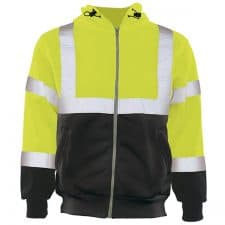 ERB Class 3 Hooded Safety Sweatshirt With Zipper