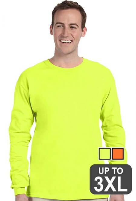 Lightweight 50/50 Long Sleeve Safety T-shirt