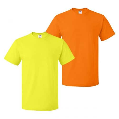 Fruit of the Loom Short Sleeve Safety Shirt