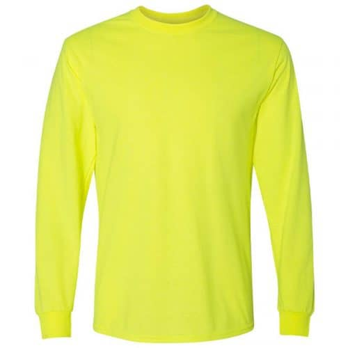 Long Sleeve Fruit of the Loom Safety Shirt