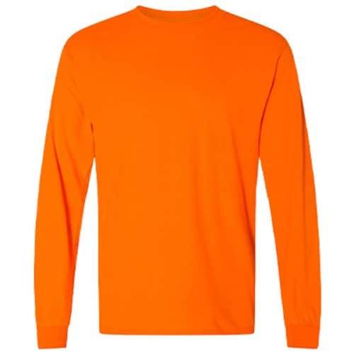 Long Sleeve Safety Orange Shirt