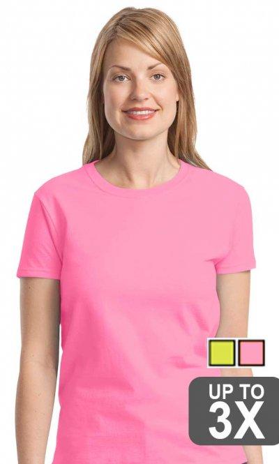 Ladies Safety Pink T-Shirt
