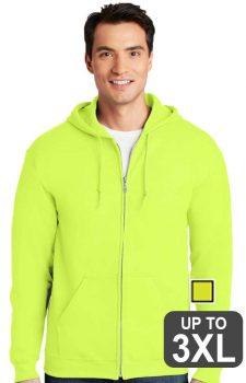 Gildan Heavy Blend Full Zip Safety Sweatshirt