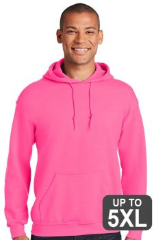 Gildan Safety Pink Hooded Sweatshirt