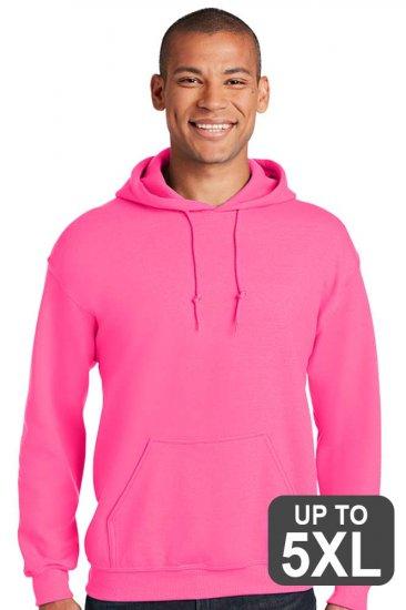 Gildan Safety Pink Hooded Sweatshirt