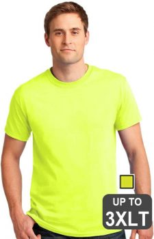 Gildan Big And Tall Safety Green Shirts