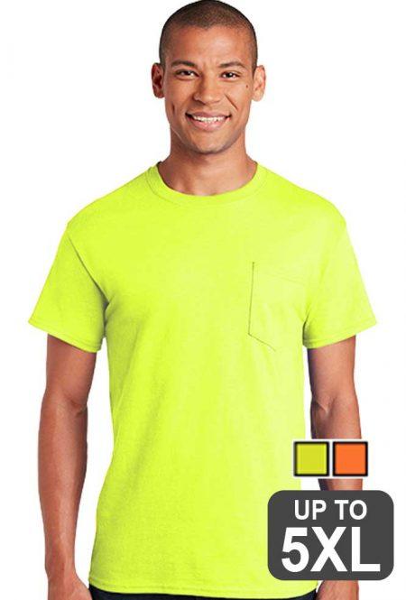 Gildan Ultra Cotton Pocket Safety T-Shirt