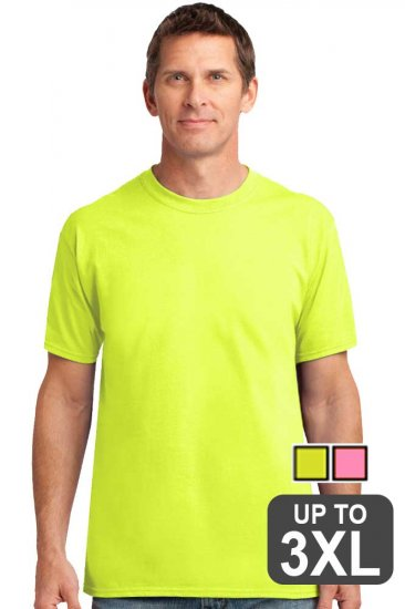 Short sleeve safety green shirt