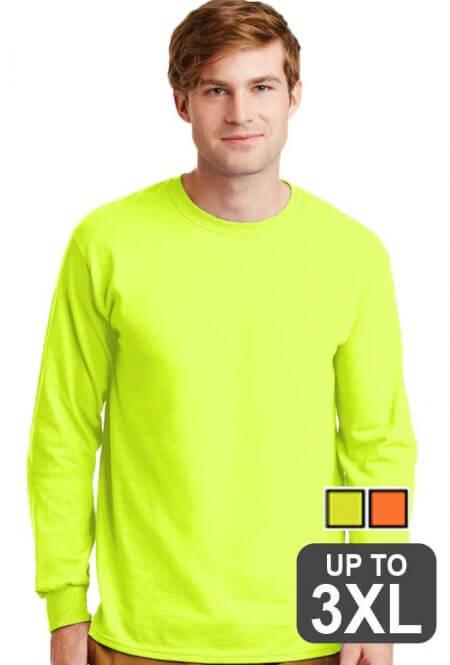 Gildan Long Sleeve Safety T-Shirt
