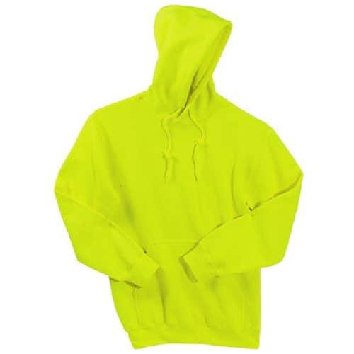 Gildan Safety Green Hooded Sweatshirt