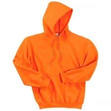 Gildan Safety Orange Hooded Sweatshirt