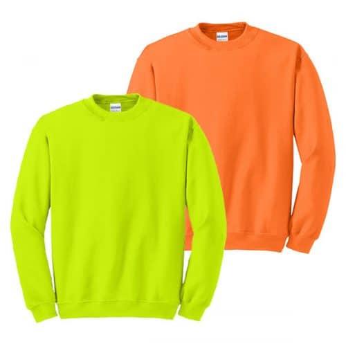 Gildan Safety Crewneck Sweatshirts