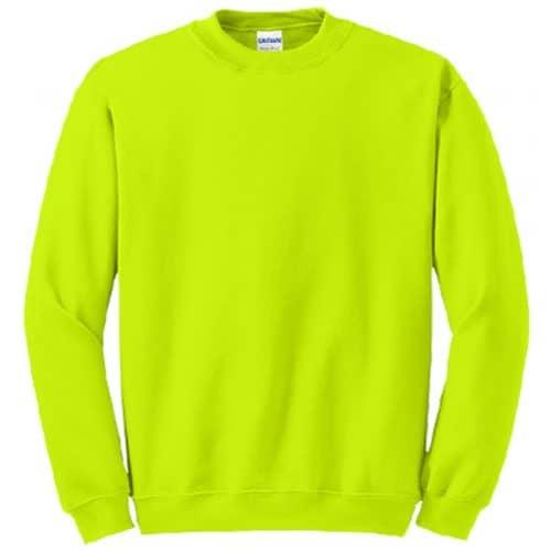 Gildan Safety Green Crewneck Sweatshirt