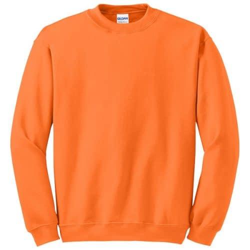 Gildan Safety Orange Crewneck Sweatshirt