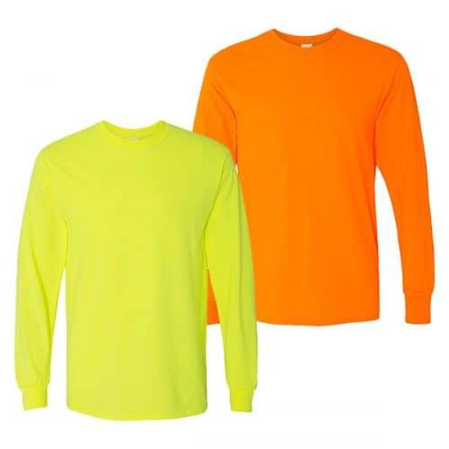 Gildan Long Sleeve Safety Shirts