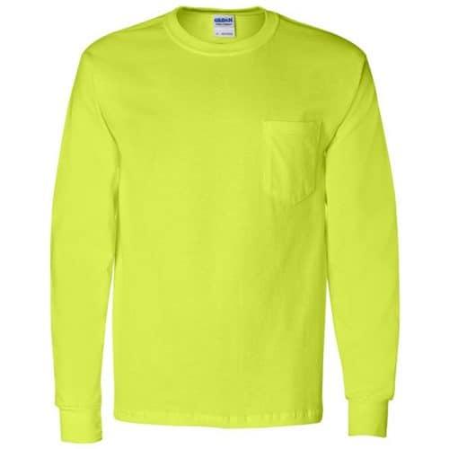 Gildan Safety Green Long Sleeve Shirt
