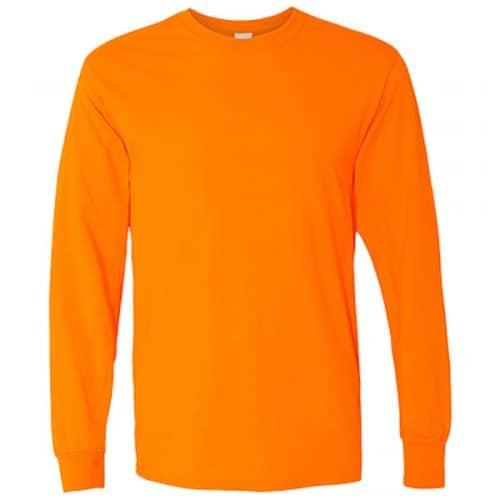 Long Sleeve Gildan Safety Orange Shirt