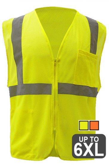 Reflective Safety Vest with Zipper